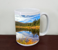 Rainbow Lakes Indian Peaks Wilderness Colorado  Floral Coffee Mug
