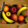 Fruit Variety Photo Tempered Glass Cutting Board 8x11 and 12x15