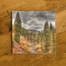 Trout Lake Trestle in Colorado in the Fall Photo Ceramic Coaster
