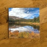 Rainbow Lake Photo Ceramic Drink Coaster