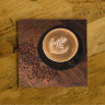 Coffee Beans and Black Mug Photo Ceramic Drink Coaster