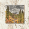 Trout Lake Train Trestle in Colorado Photo Tumbled Stone Coaster