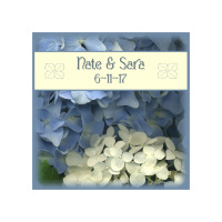 Wedding Hydrangea Photo Ceramic Coaster, Bridal, bouquet, favors, gifts, floral, custom