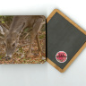 "Deer Grazing 4""x4"" Wood  Coaster with Magnet on Back with Fine Art Photo by Koral Martin"
