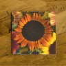 Colorful Sunflowers Ceramic Drink Coaster | Beautiful Floral Drink Coaster | Sunflower Home Decor