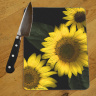 Sunflower Trio Photo Tempered Glass Cutting Board 8x11 and 12x15