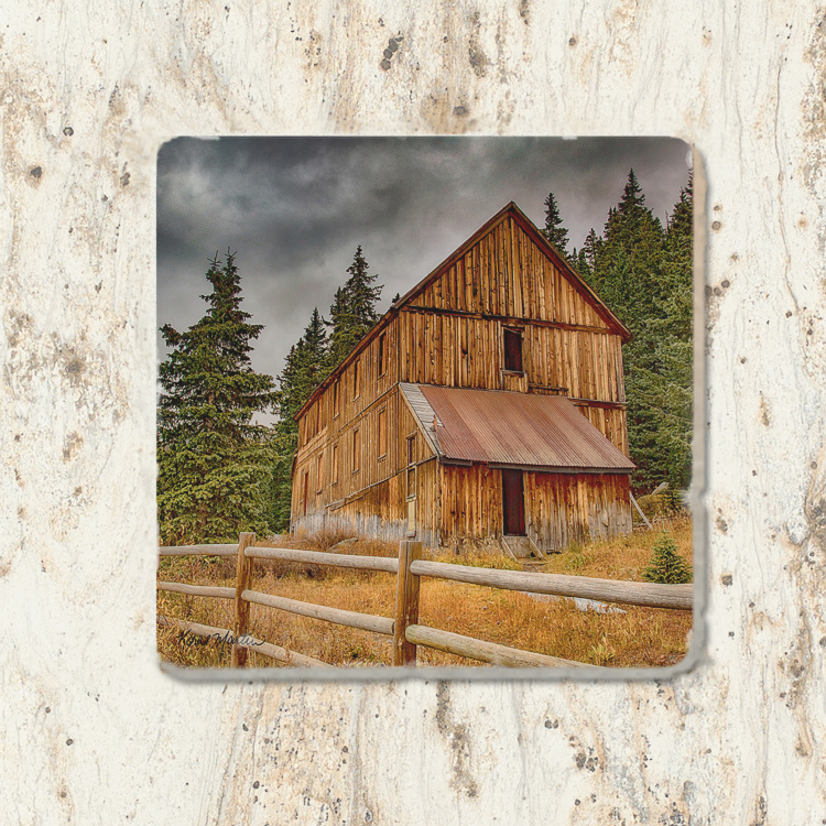 Alta Lakes Mine Colorado Tumbled Stone Coaster | Colorado Coaster | Drink Coaster | Colorado History