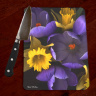 Spring Forth Crocus Daffodils Photo Tempered Glass Cutting Board  8x11 and 12x15