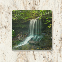 Artist Point Falls Arkansas Tumbled Stone Drink Coaster