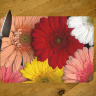 Gerbera Daisies Floral Glass Cutting Board 8x11 and 12x15 | Gerber Daisy Kitchen Decor | Floral Art