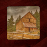 Alta Lake Mining 4x4 Wood Coaster with Magnet