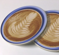 Latte Art Photo Sandstone Car Coasters, Sold as a pair, Coffee Art