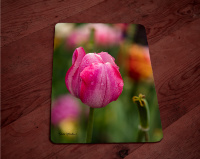 Pink Tulip with Rain Drops Photo Tempered Glass Cutting Board 8x11 and 12x15