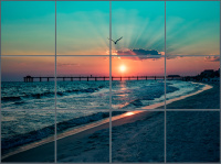 Beach Sunset Ceramic Tile Mural
