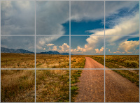 Journey to the Colorado Mountains Tile Mosaic