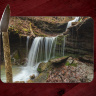 Artist Point Arkansas Waterfall II Glass Cutting Board 8x11 and 12x15 | Beautiful Counter Protector