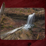 Lower Artist Point Waterfall Photo on Tempered Glass Cutting Board 8x11 and 12x15