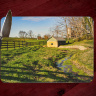 Kentucky Bluegrass Horse Farm Spring House Tempered Glass Cutting Board 8x11 and 12x15