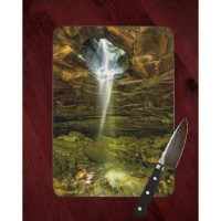 Glory Hole Waterfall Photo on Tempered Glass Cutting Board 8x11 and 12x15