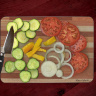 Vegetable Photo Cutting Board Glass Cutting Board 8x11 and 12x15 | Fun Vegetable Kitchen Decor