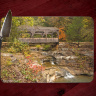 Old Covered Bridge Photo on Tempered Glass Cutting Board 8x11 and 12x15