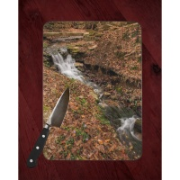Crystal Bridges Arkansas Waterfall Glass Cutting Board 8x11 and 12x15 | Waterfall Art