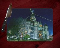 Jasper County Courthouse in Winter I in Carthage Cutting Board Route 66