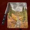 Colorado Trout Lake Trestle Photo Glass Cutting Board 8x11 and 12x15 | Colorado Kitchen Decor