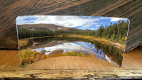 Rainbow Lakes Metal  Desktop Pano Print