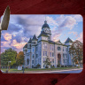 Jasper County Courthouse with Storm Clouds in Carthage Cutting Board Route 66