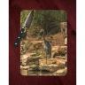 Great Blue Heron and Turtle Photo on Tempered Glass Cutting Board 8x11 and 12x15