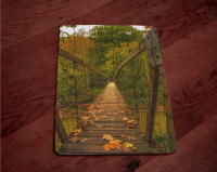 Suspension Bridge Red River Gorge Photo Tempered Glass Cutting Board 8x11 and 12x15