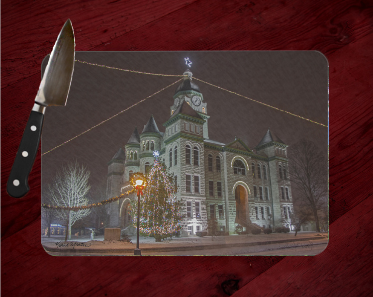 Jasper County Courthouse with Mayors Tree in Carthage Cutting Board Route 66