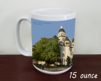Carthage, Jasper County Courthous Summer Coffee Mug
