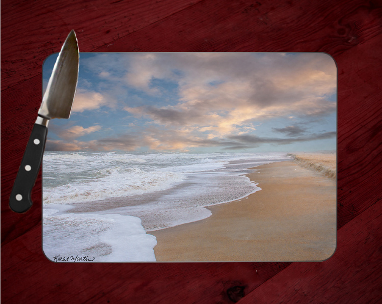 St Augustine Ocean Beach Photo Tempered Glass Cutting Board 8x11 and 12x15