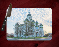 Jasper County Courthouse Springtime in Carthage Cutting Board Route 66
