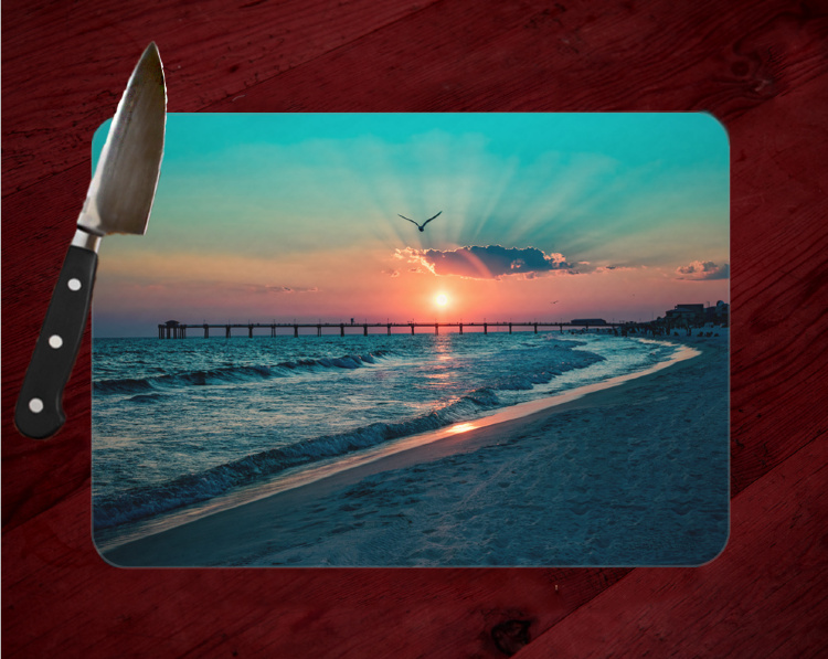 Sunset on the Beach Cutting Board, Destin Florida