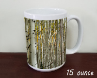 Aspen Grove, DarkCanyon Trail, Colorado Photo Coffee Mug