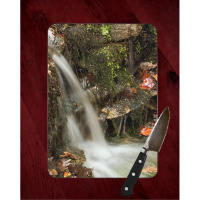 Crystal Bridges Waterfall Glass Cutting Board 8x11 and 12x15 | Arkansas Art