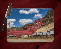 Colorado Argo Mill and Mine Glass Cutting Board 8x11 and 12x15 | Beautiful Utilitarian Colorado Art