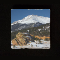 "Colorado Snow Peaked Mountain  6""  Tumbled Stone Trivet"