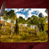 Colorado Aspen Glass Cutting Board| Decorative Counter Protector | Flat Tops Biway | Meeker