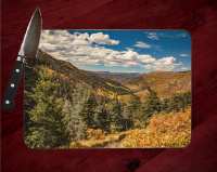 Culter Creek Colorado  Cutting Board 8x11 and 12x15 | Decorative Counter Protector | Kitchen Colorado Art