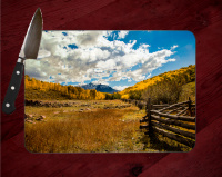 Sneffels Range Colorado Tempered Glass Cutting Board 8x11 and 12x15