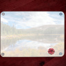 Rainbow Lake Reflection in Colorado Tempered Glass Cutting Board 8x11 and 12x15