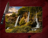 Rifle Falls Colorado Tempered Glass Cutting Board 8x11 and 12x15
