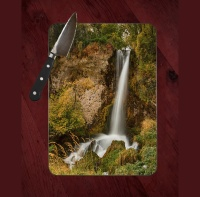 Rifle Falls Close Colorado Tempered Glass Cutting Board 8x11 and 12x15