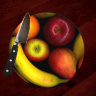 "Variety of Fruit Photo Round 8"" and 12"" Glass Cheese Board, cutting board,  centerpiece"