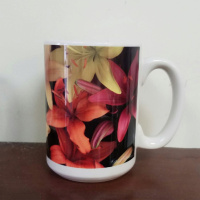 Tiger Lily Floral Photo Coffee Mug