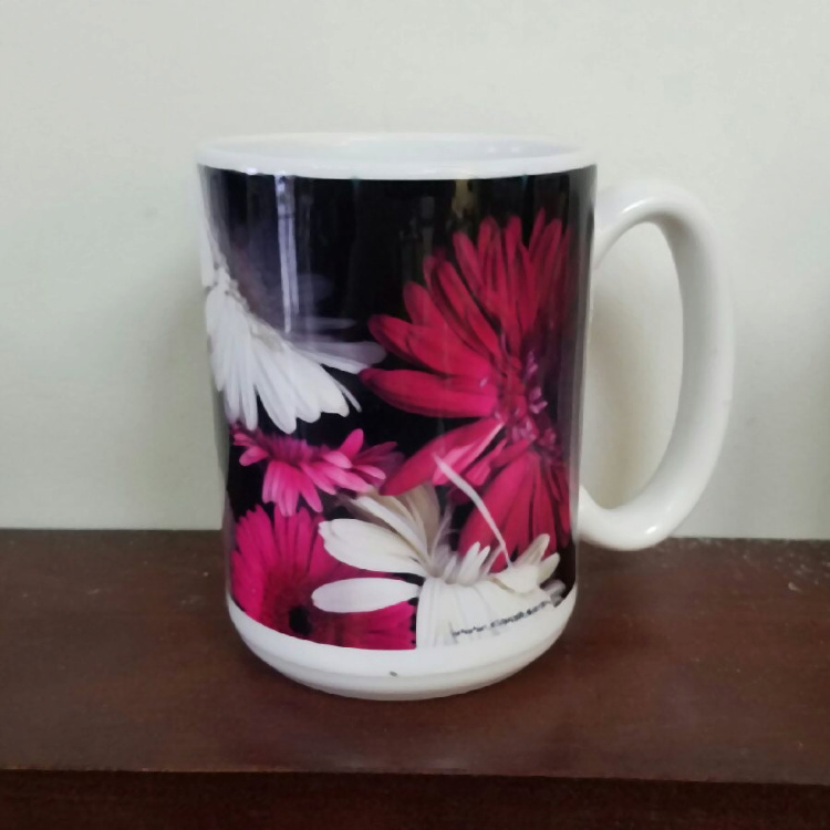 Gerber Daisies Floral Photo Coffee Mug